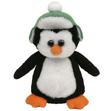 TY Holiday Baby - TOBOGGAN the Penguin (2011 version - green hat) (4 inch) MWMTs