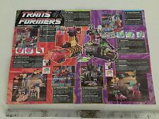 Transformers G2 1991 small folder catalogue EUROPEAN turbomasters obliterators