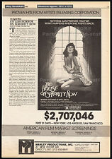THE HOUSE ON SORORITY ROW__Original 1983 Trade print AD/ poster__Eileen Davidson
