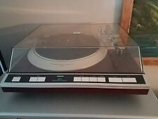 Denon DP-61F Turntable Servo Tonearm Q-Damping with Dustcover. Beautiful! RARE!