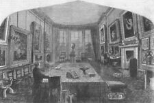 LONDON. Breakfast-room, Rogers House St Jamess Place, antique print, 1856