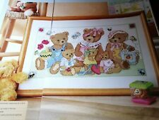 CROSS STITCH CHART SUMMER TEDDIES TEDDY BEAR SCENE CHART ONLY