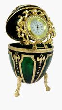 "Copie oeuf Fabergé bleu - ""L'horloge"""