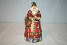 "Jim Shore ""He Knows"" Santa Naughty & Nice Figurine Heartwood Creek V4002405"