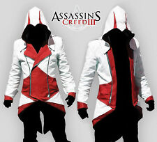 Men Hoodie Jackets Assassin-Creed3 Connor Kenway Cosplay Xmas Party Costume Coat