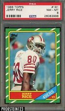 1986 Topps #161 Jerry Rice 49ers RC Rookie HOF PSA 8 NM-MT