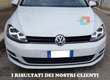 VW GOLF 7 VII DAL 2012 IN POI FARI ANTERIORI DOPPIA U LED DIURNE FANALI GTI LOOK