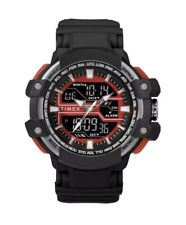 Timex TW5M22700, Tactic DGTL Black Resin Watch, Indiglo, Day/Date, Alarm