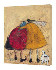 Sam Toft - Hugs on the Way Home - 30 x 40cm Canvas Print Wall Art WDC41351