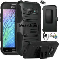 For Samsung Galaxy J1 Hybrid Rugged Holster Case Cover Stand Clip +Pen+Charger