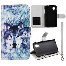 Flip Wallet Snow Wolf For LG Optimus G Pro E980 Pu Leather Cover Case