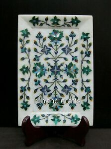 9 x 6 Inches Rectangle Marble Serving Tray Vintage Art Useful tray Hand Crafted