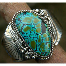 Women Lady Jewelry 925 Silver 6.22ct Luxury Turquoise Rings Fashion Size 6-10