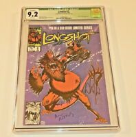 Longshot #5 CGC 9.2 NM- Signed by Arthur Adams and Whilce Portachio 1986