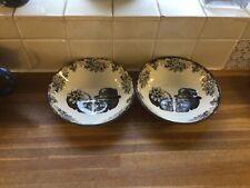 More details for royal stafford skulls cereal bowls x2. mr and mrs skull.new.halloween.
