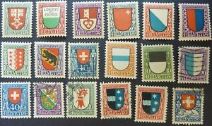 Switzerland 'Pro Juventute' stamps 1919 - 1922 & 1926 5 complete sets MH/used