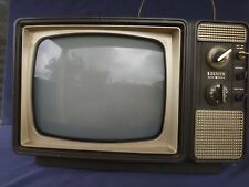 Vintage Zenith Portable TV Television Set Made in Taiwan Aug. 1979 AS IS