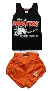 Hooters Girl T-Shirt Tank & Shorts Outfit Costume Set Women XS X-Small Halloween