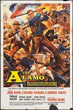"""Original The Alamo Poster 1960 27""""x41"""" Fine 5.5 John Wayne"""
