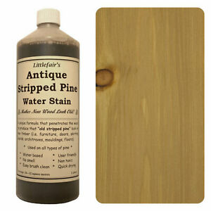 Littlefair's Water Based Wood Stain & Wood Dye - Antique Stripped Pine