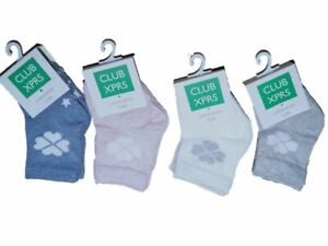 Baby Boys Girls Newborn Socks 0 6 12 Months Blue White Grey Pink 2 Pair in Pack