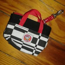EUC Little MissMatched Girls Coin Purse Tote Bag Black White Red