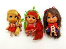Vintage 1960s Mattel 3 Liddle Kiddles Lucky Locket Dolls in VGUC
