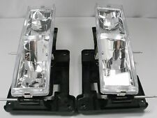 Chevy Silverado C1500 K2500 Tahoe GMC Sierra PAIR Headlights CLEAR 1989-1998