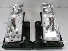 Chevy Silverado C1500 K2500 Tahoe GMC Sierra PAIR Headlights CLEAR 1989-1998