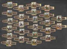 Série complète de 24   Bagues de Cigare Ritmeester Cavalerie Anglaise  Cheval