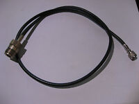 """Coaxial Patch Cable RG-58/U Mini-UHF to N-Female 25"""" approx. - USED Qty 1"""