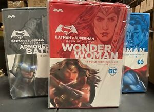 Wonder Woman Superman Batman 1/8 Resin Moebius Gadot Affleck Cavill Set of 3