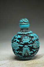 Beautiful Chinese resin hand carved snuff bottle --fish&flower ss6