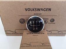 GENUINE VW T5 & T6 GEAR KNOB EMBLEM 5-SPEED BRUSHED CHROME
