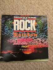 "Original 1980 Donnington MONSTERS OF ROCK Live Vinyl 12"" LP Record Rainbow Saxon"