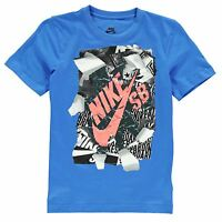 New rip type Boys Junior Nike T Shirt Crew Neck Casual Top Size Age 3-7 -7-13 Yr