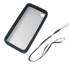 Hard Plastic Tough Clear Case for iPhone 4S 4 + neckstrap