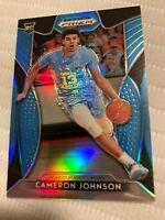 2019-20 Panini Prizm Draft Picks Carolina Blue /30 Cameron Johnson #76 Rookie