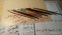 Dip pen qalam with left oblique nib for Arabic,Farsi calligraphy Gold plated nib