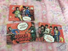 Super Junior Group 3PC Puzzle Starcard Star Collection Official PhotoCard Kpop