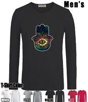Spiritual Hand Evil Eye Design Long Short Sleeve Men's Boy's T-Shirt Graphic Tee
