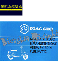 11250 - LIBRETTO USO E MANUTENZIONE PER VESPA VESPA PK 50 XL PLURIMATIC DAL 1986