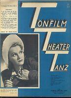 TONFILM THEATER TANZ 1942 Heft 11 - Gesang / Klavier