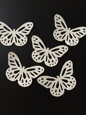 25 Ivory butterflies wedding crafts, scrapbooking, table confetti