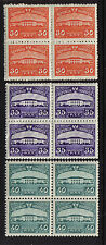 INDONESIA 1951 #620,621,622. IN BLOCKS OF 4 MINT NEVER HINGED MNH