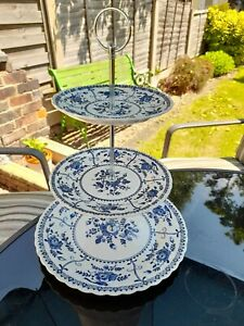 Vintage 3 tier china cake stand