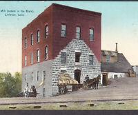 Littleton Colorado 1910 Flour Mill Climax Tobacco Sign Ad Horse Wagon PostCard