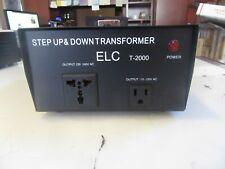 V1 ELC T-2000 STEP UP &DOWN TRANSFORMER 2000 VA 110-220 V FREE SHIPPING