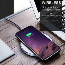 15 Вт Qi беспроводное зарядное устройство док-станция для зарядки подушечка коврик для Samsung S10 iPhone 8 X Xs