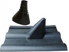 Frankfurter Dachpfanne schwarz Sat Antennen Ziegel Dachziegel Abdeckung + Gummi